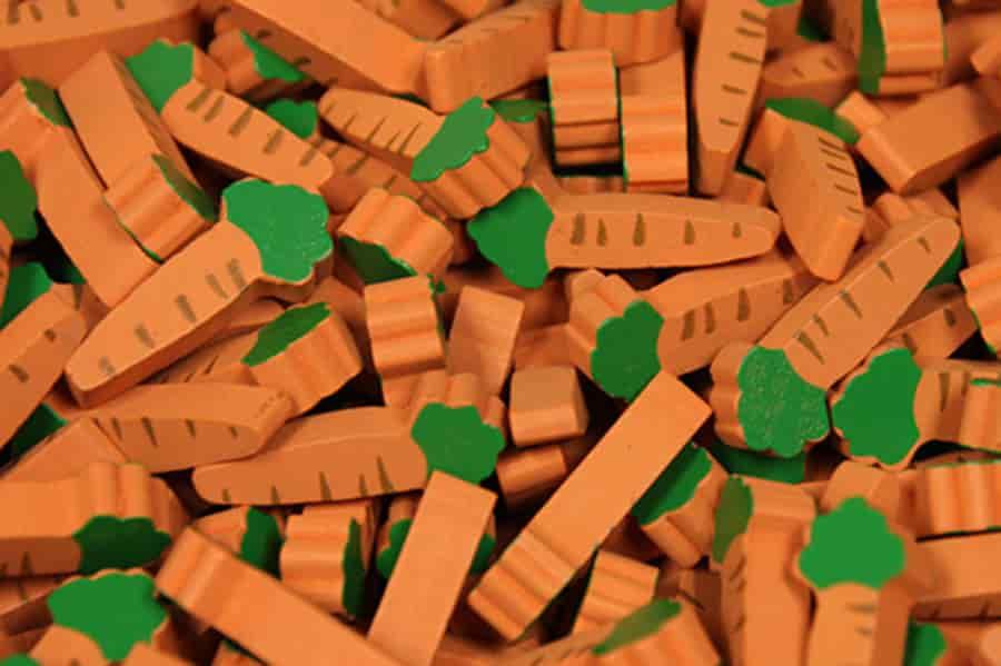 Carrot veggiemeeples Image credit - Meeple Source