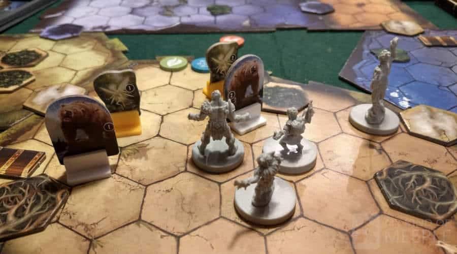 A scenario in Gloomhaven