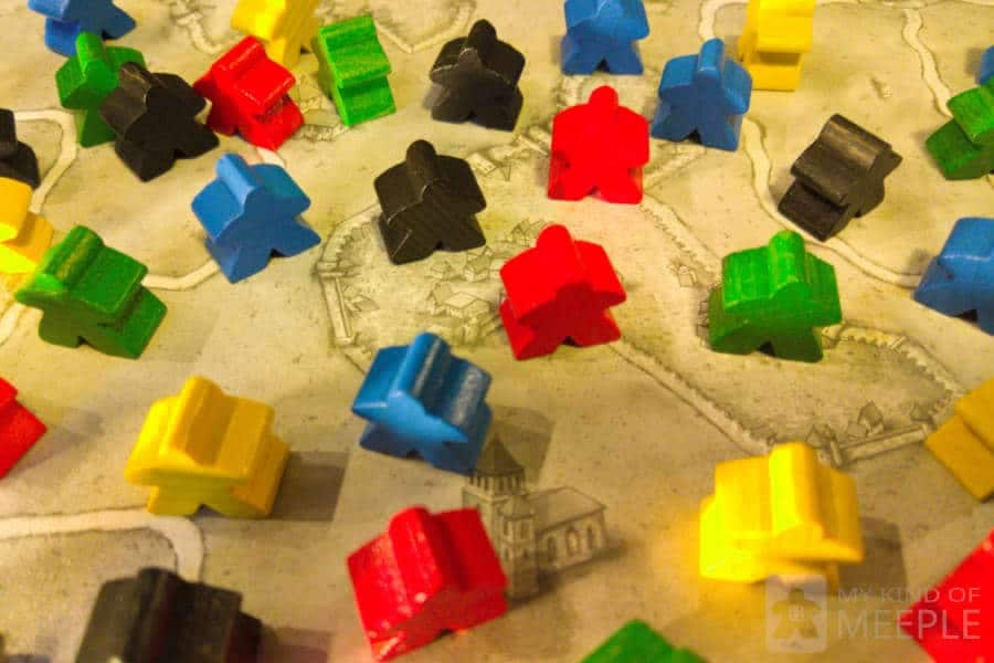 Many meeples from carcassonne