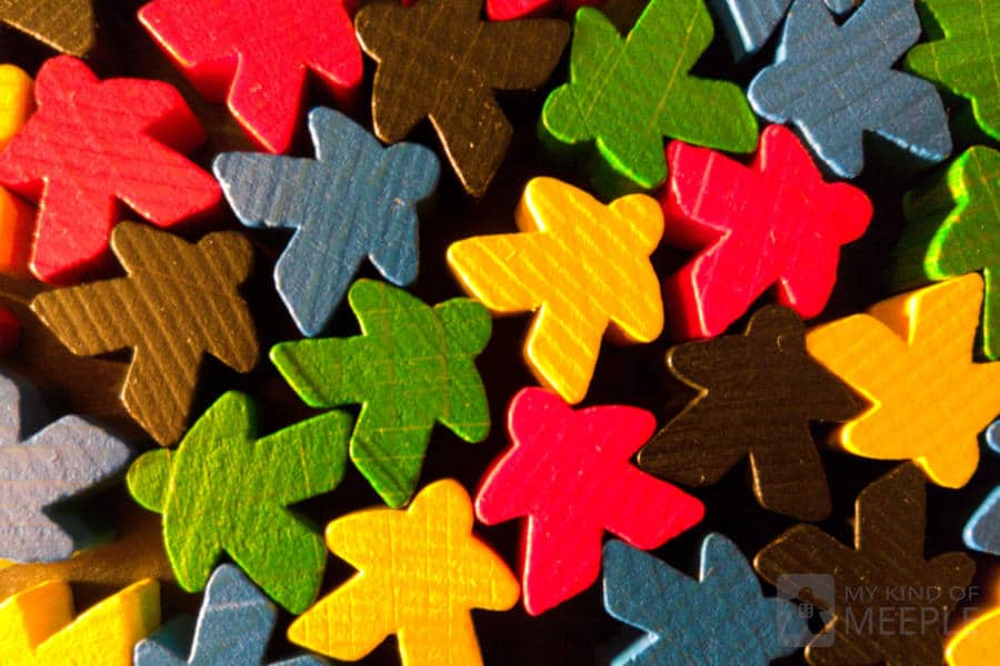 Meeples in assorted colours for board games