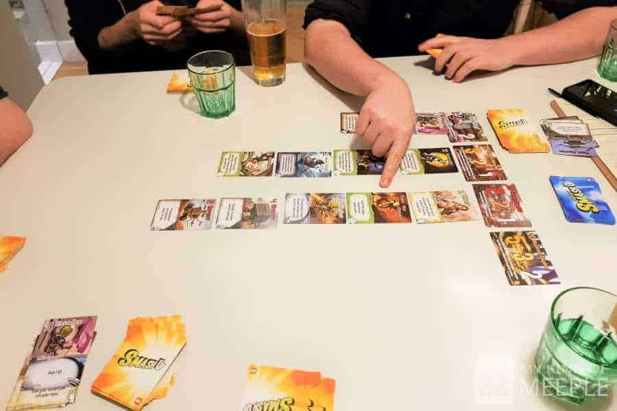 Playing Smash Up at The Treehouse Board Game Cafe