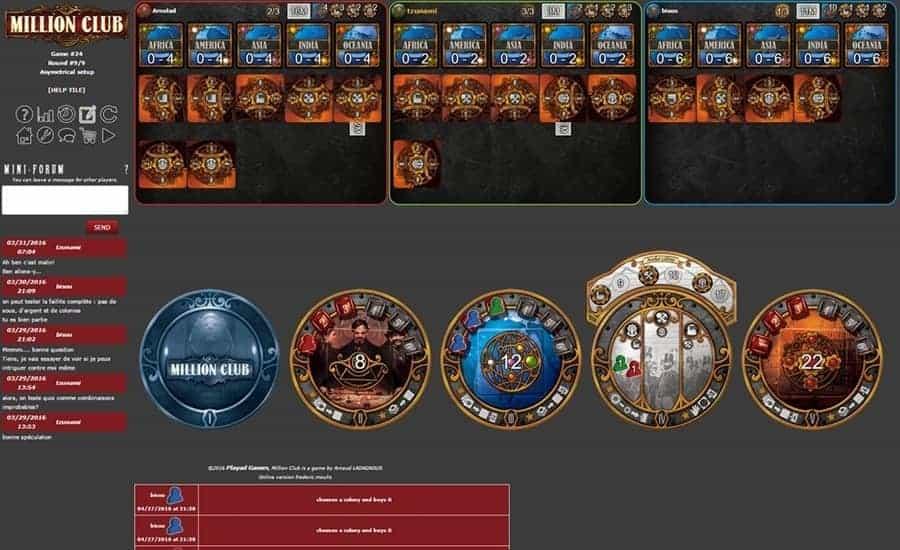 Million Club board game on Boiteajeux website