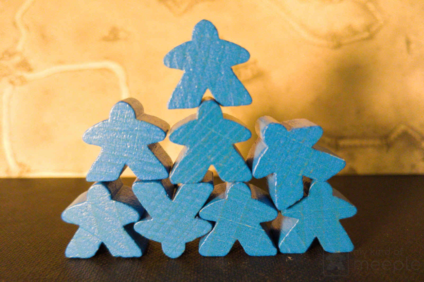 blue meeple stack