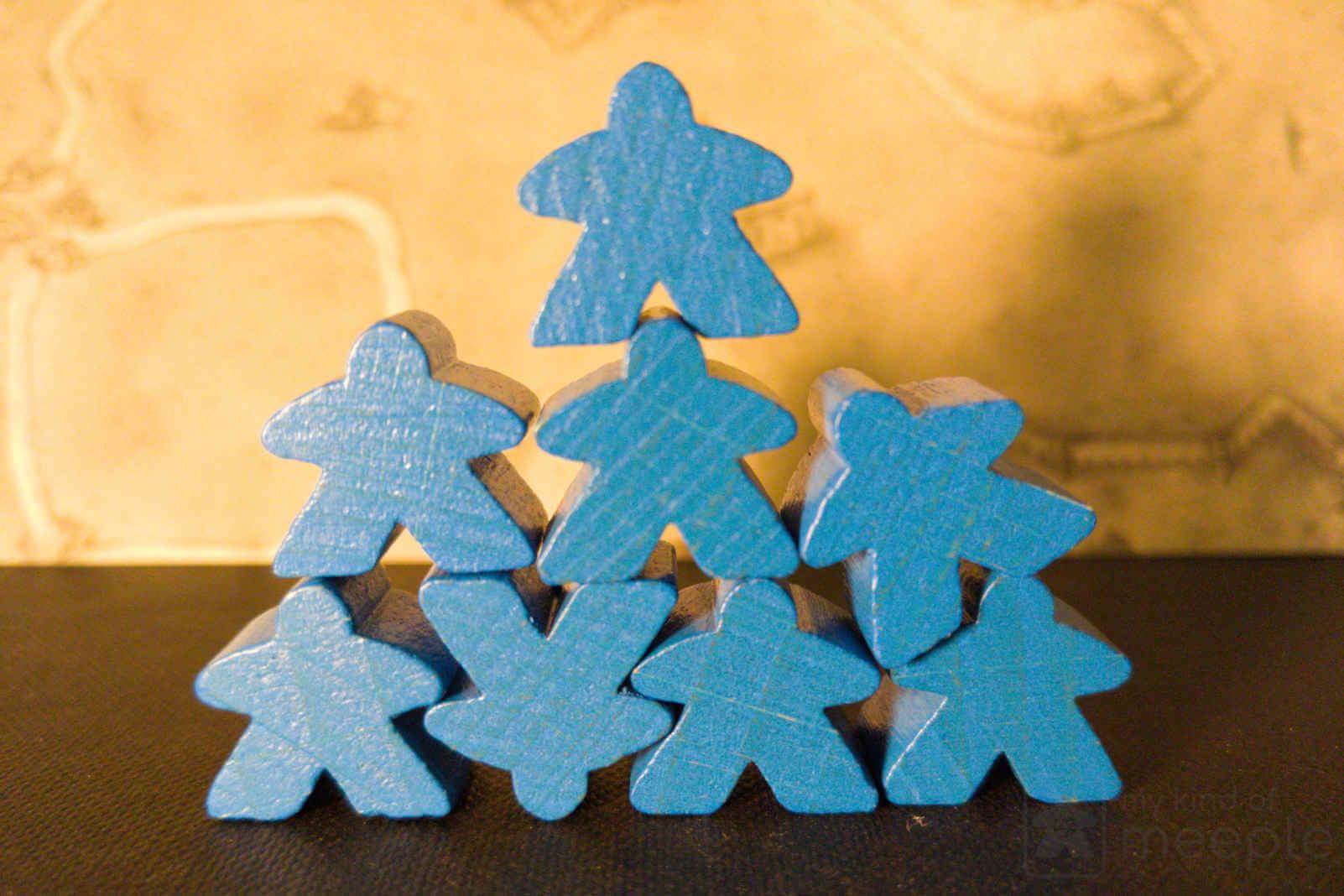 blue meeple stack