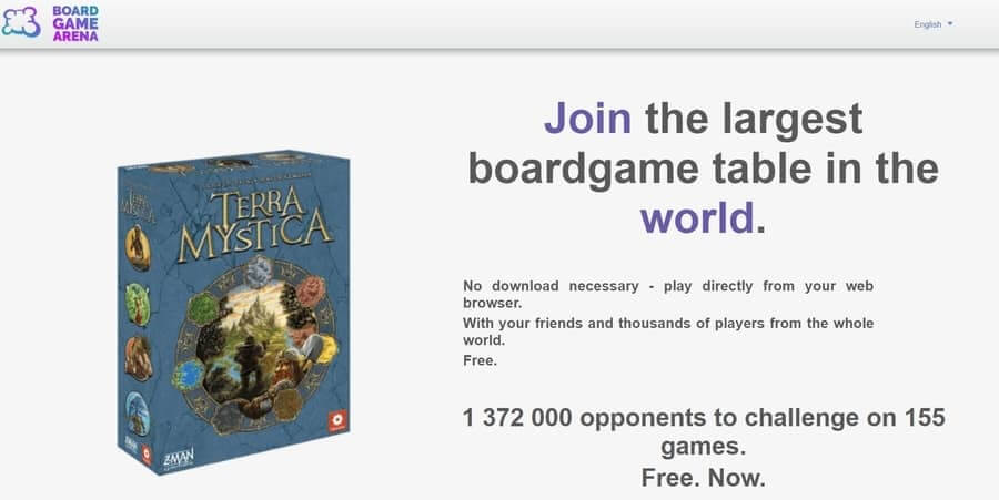 Board Game Arena Home Page the biggest website to play board games online