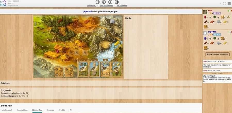 board game arena stone age