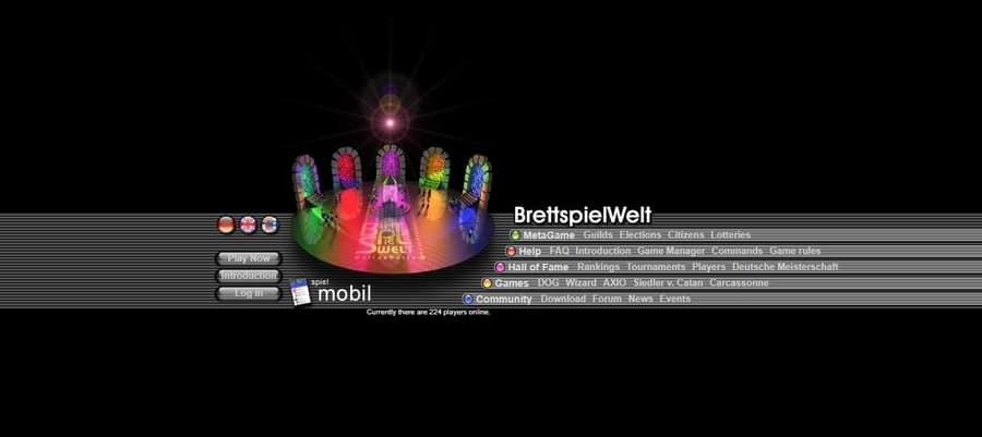 BrettspielWelt Home Page a website to play board games online