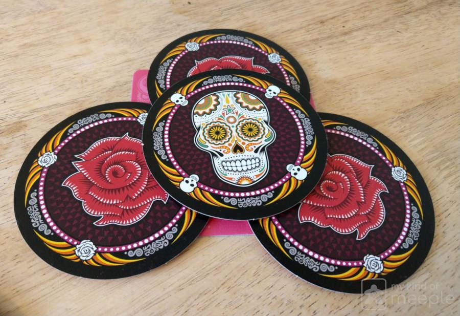 Skull discs pink
