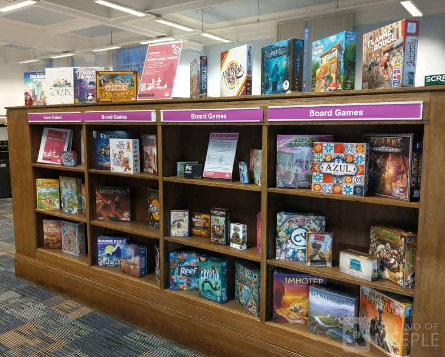 The board games collection at Sheffield Central Library