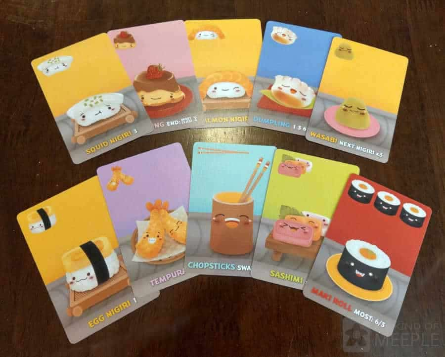 The cards in Sushi Go!