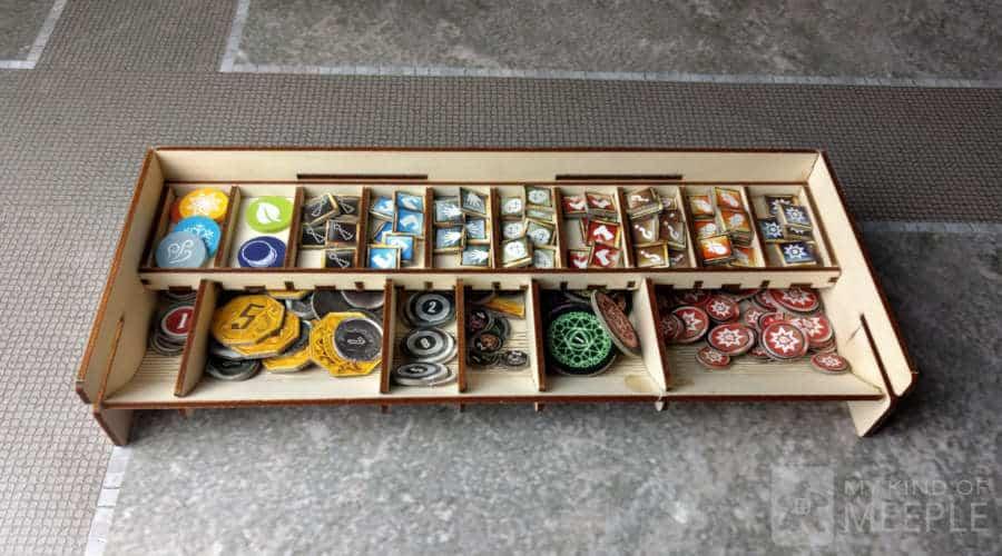 Gloomhaven token tray part of the Meeple Realty insert set