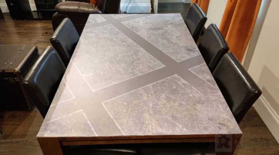 Waterproof wargaming table cover cut to the size of our table