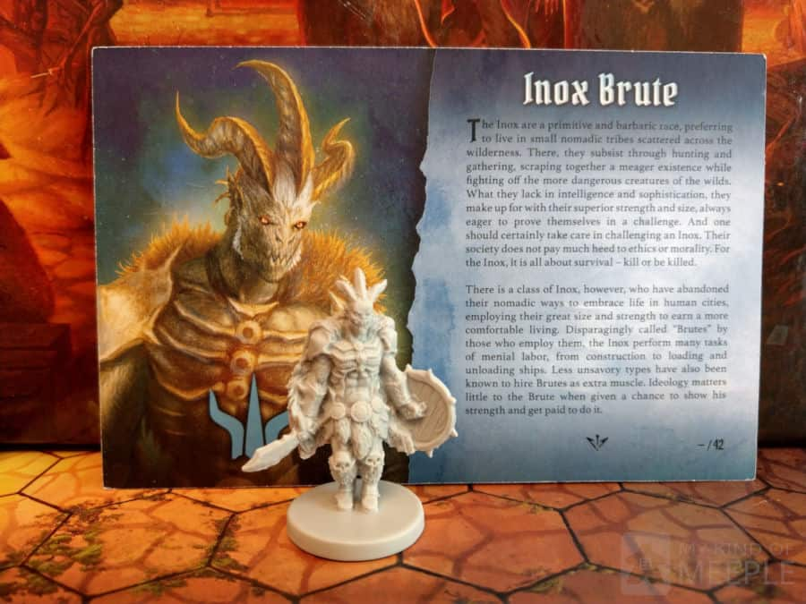 Gloomhaven Brute class miniature and board