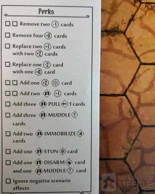 Perks for the Mindthief in Gloomhaven