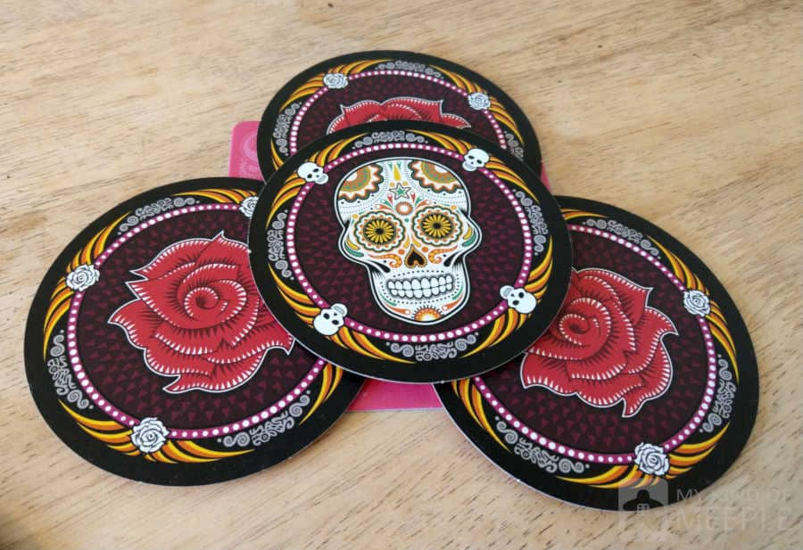 The pink disc set and play mat in Skulls and Roses