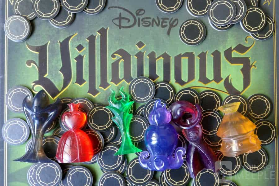 Villainous board game box with villains and power tokens