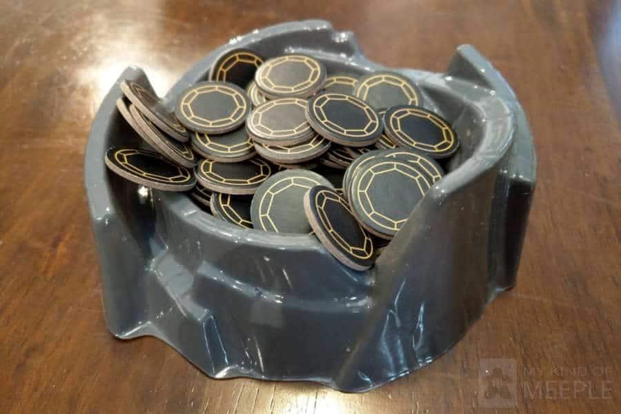 Villainous cauldron with power tokens