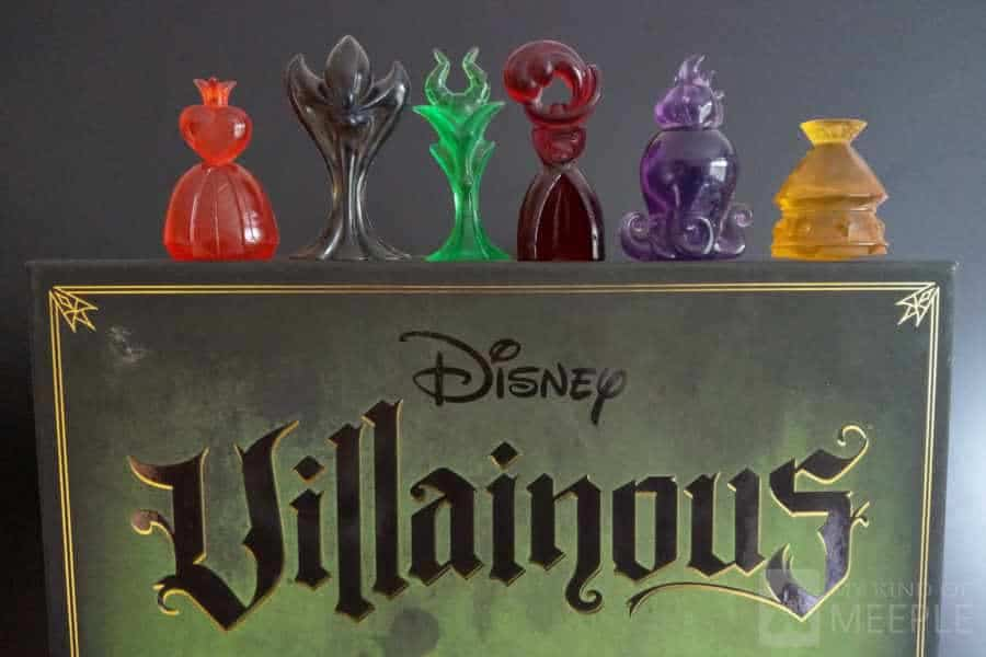 Villainous characters on the board game box