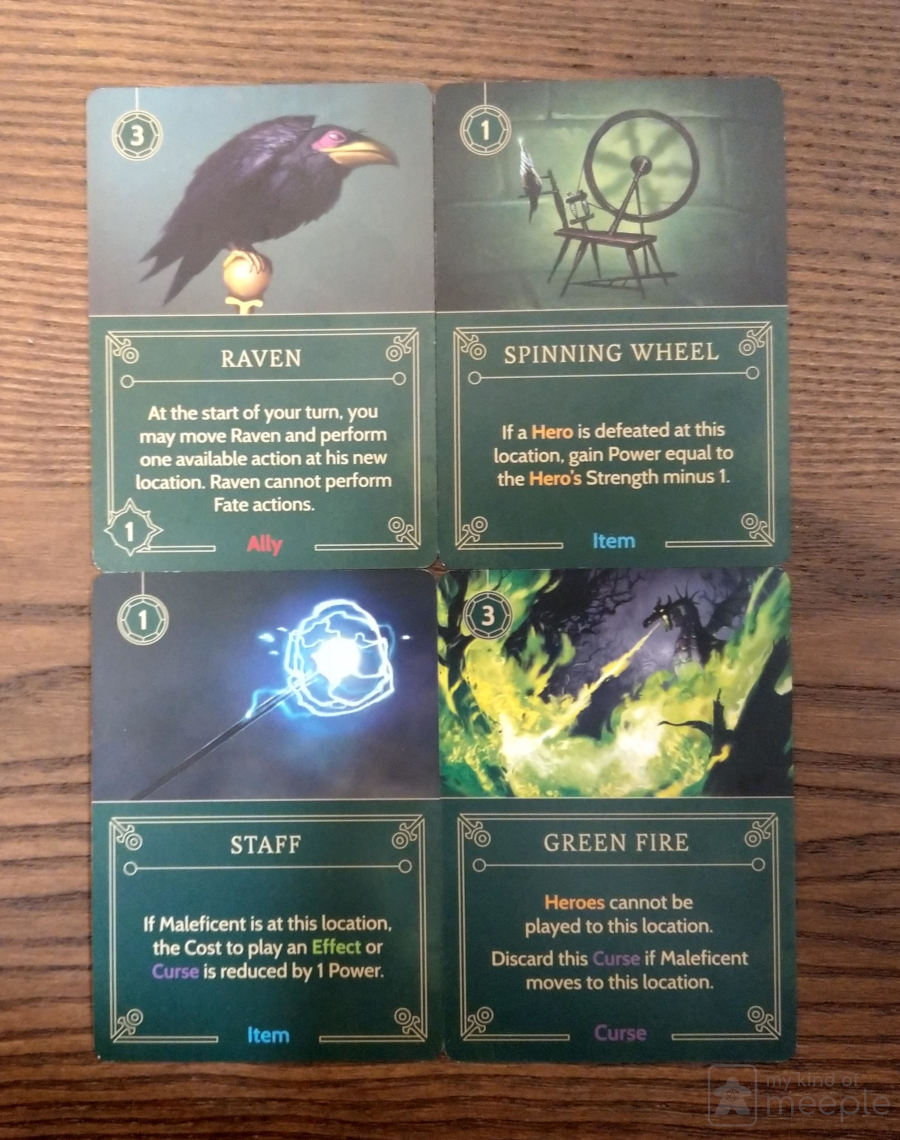 Maleficent important cards
