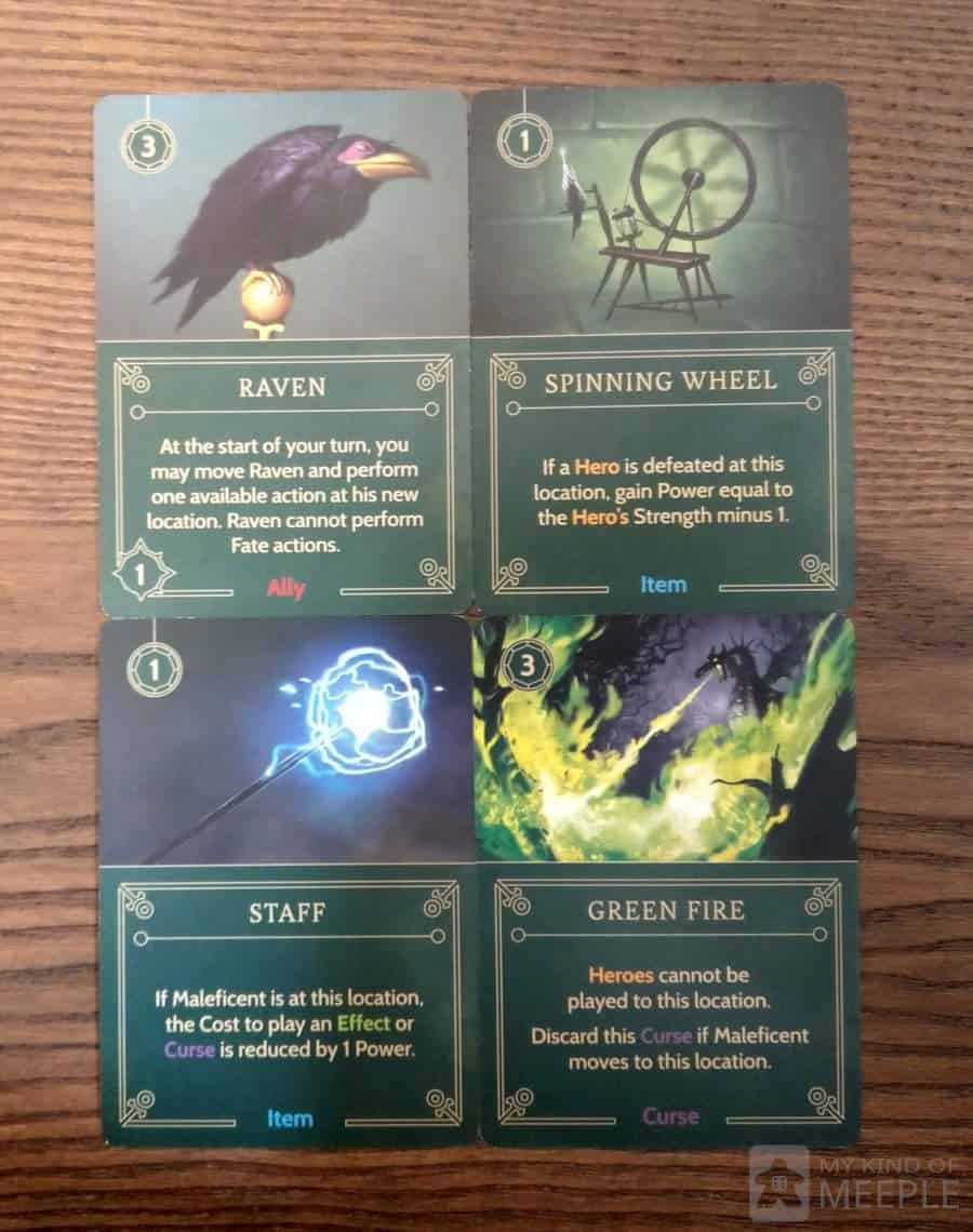 Important cards in Maleficent's Villainous deck to influence your strategy