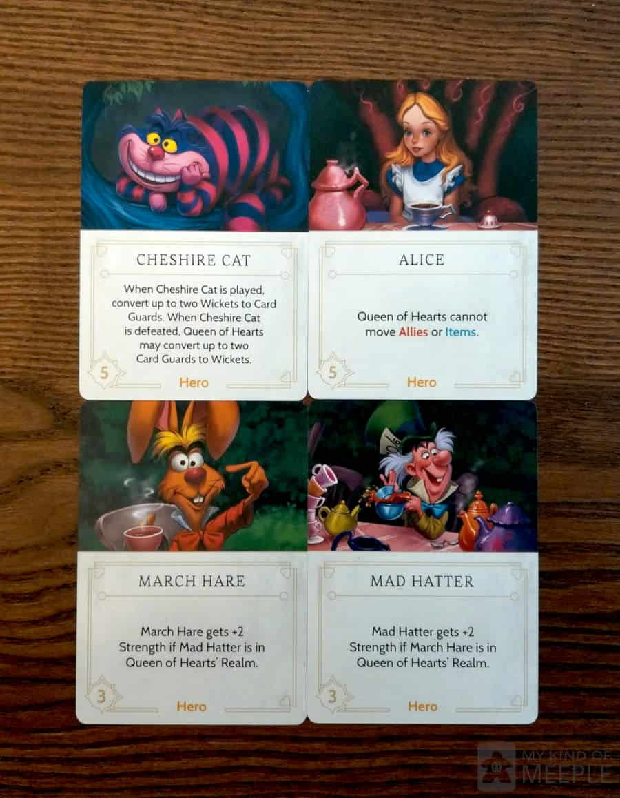 Some of the Queen of Hearts fate cards