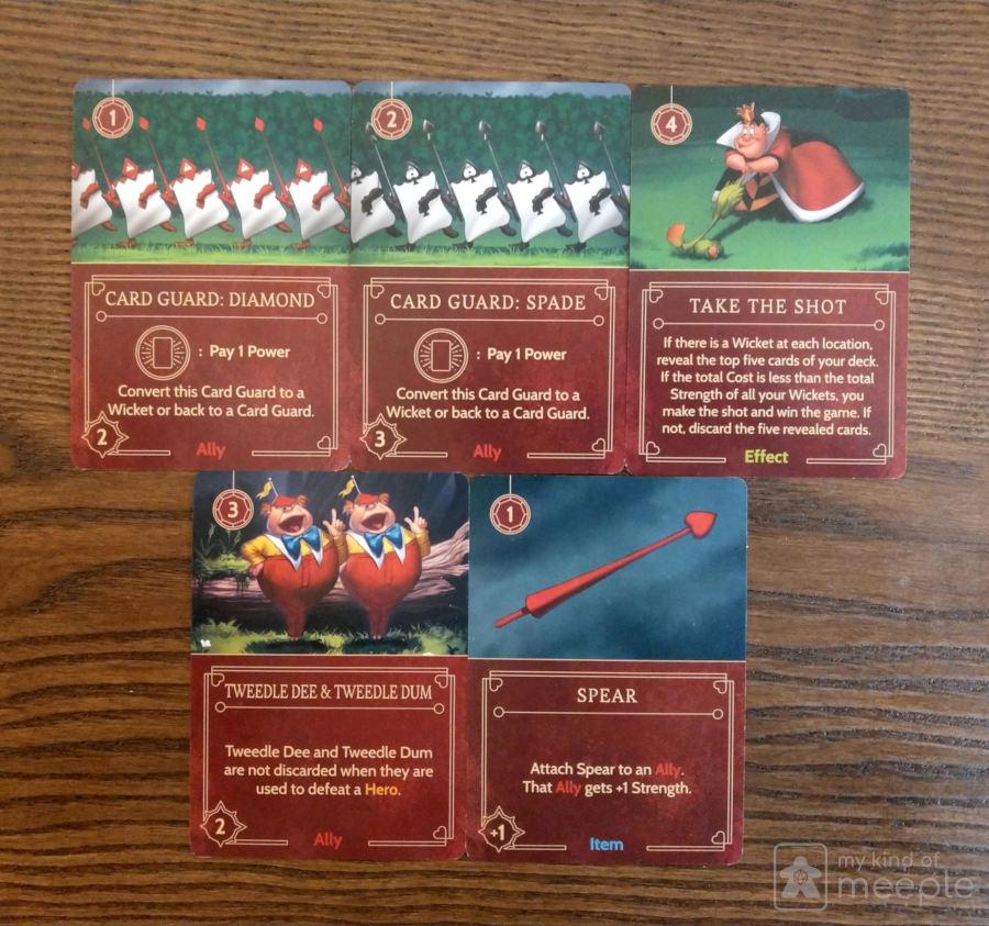 Disney Villainous Queen of Hearts important cards