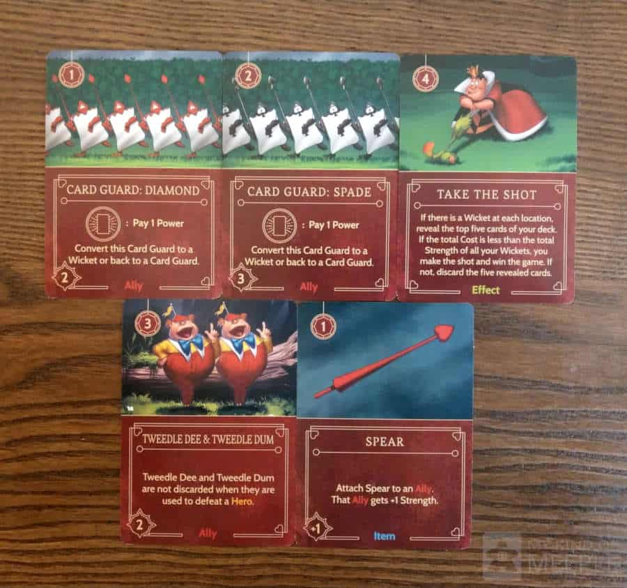 Important cards for the Queen of Hearts strategy