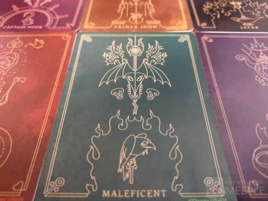 The back of the Villainous villain deck cards