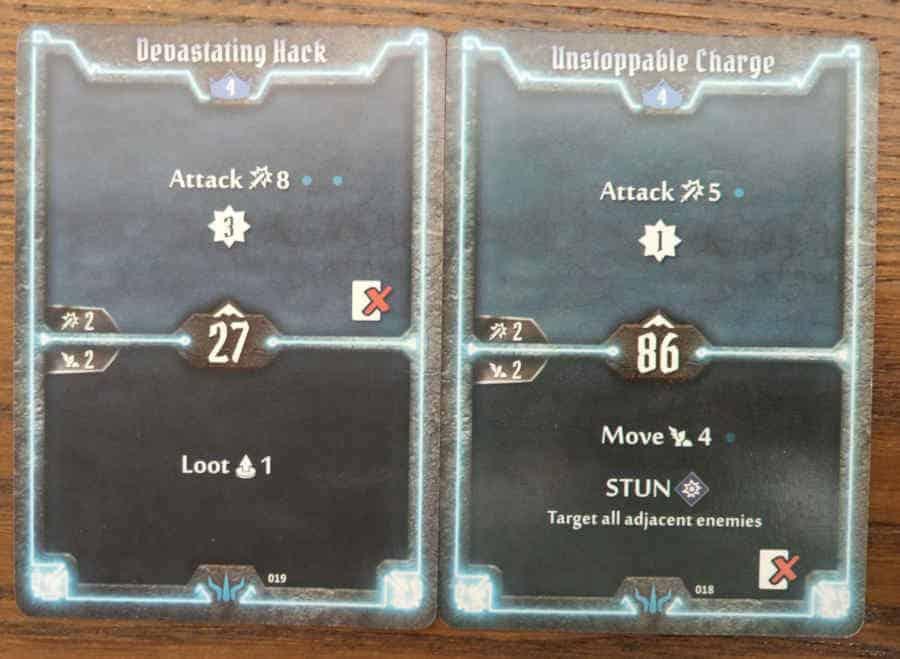 Brute level 4 cards - Devastating Hack, Unstoppable Charge