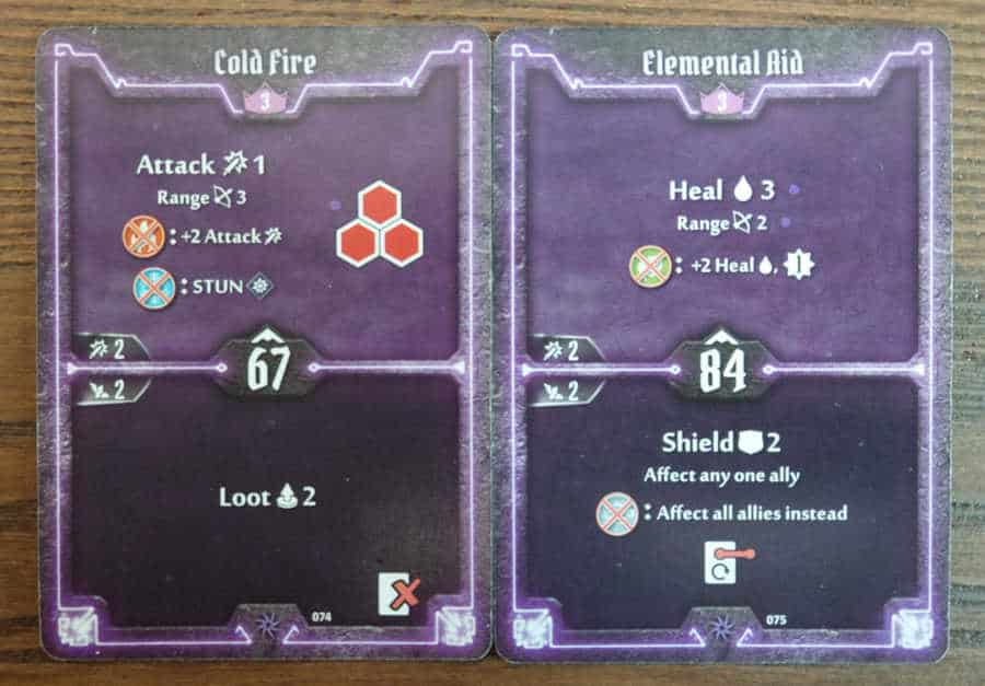 Spellweaver level 3 cards - Cold Fire, Elemental Aid