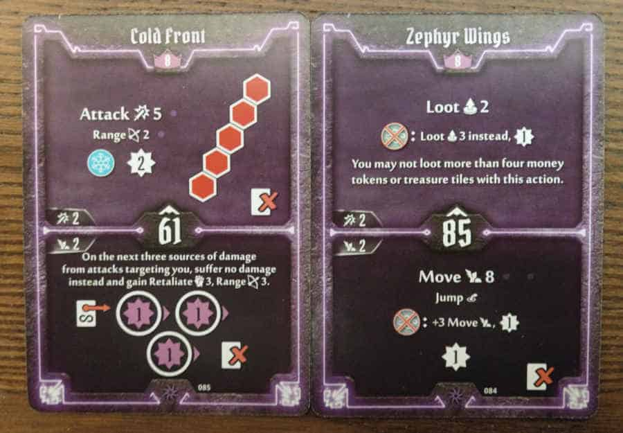 Spellweaver level 8 cards - Cold Front, Zephyr Wings