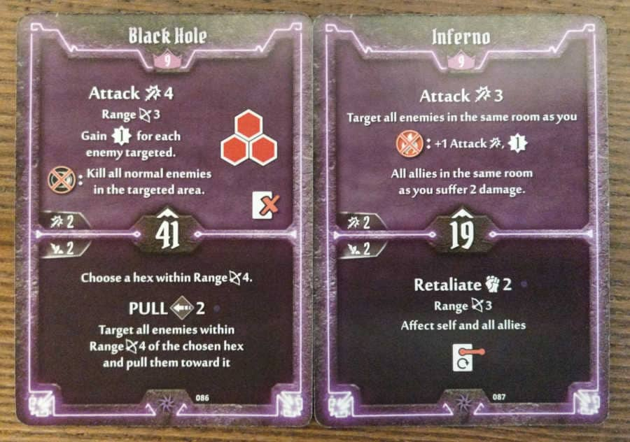 Spellweaver level 9 cards - Black Hole, Inferno