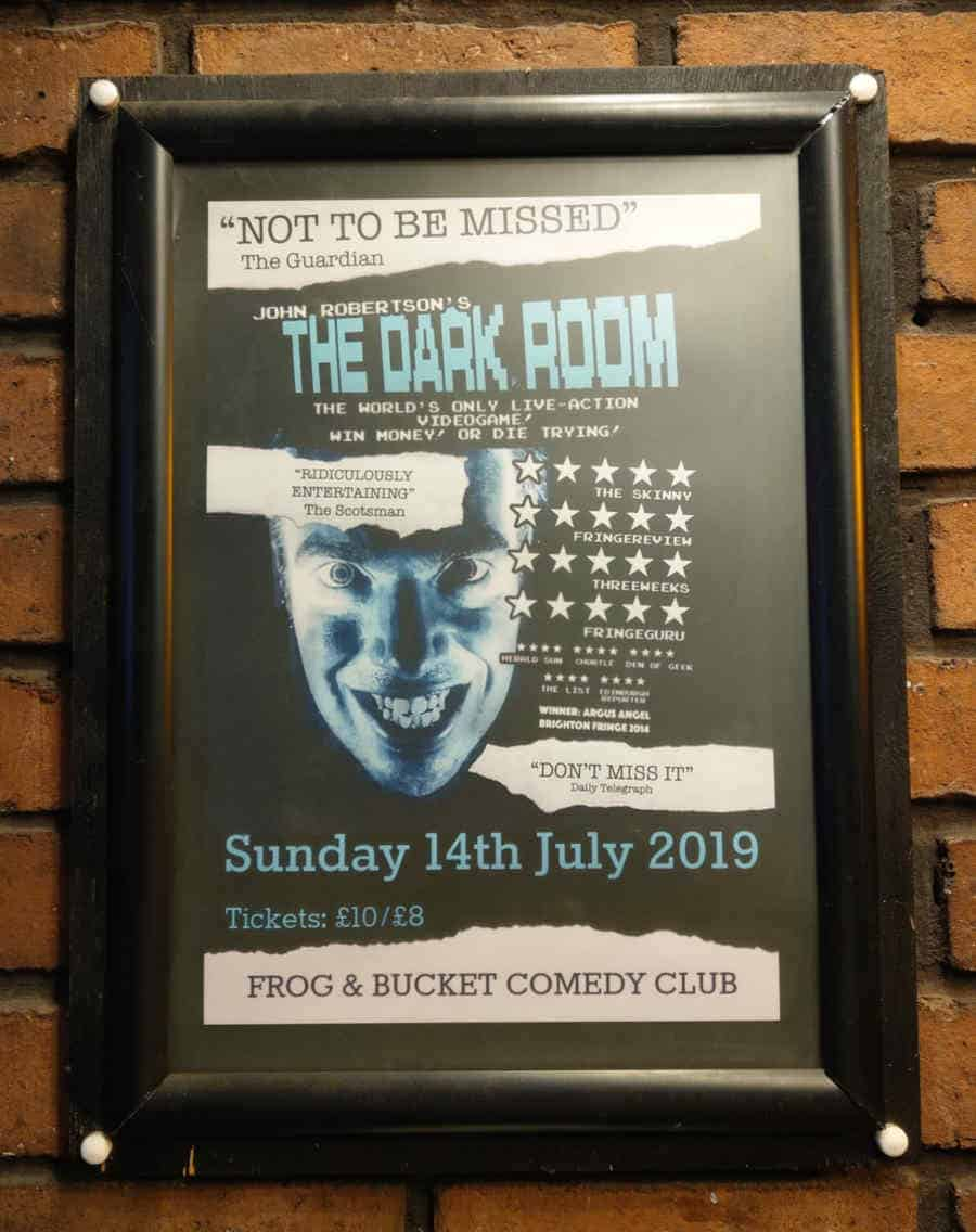 The Dark Room poster for the Manchester show