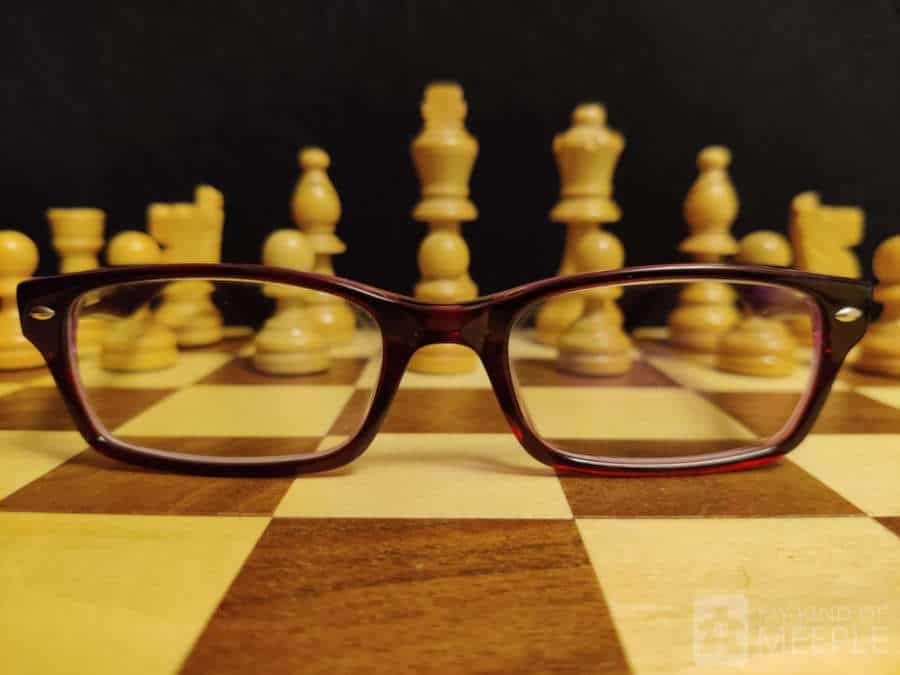 Chess board game with my nerdy glasses