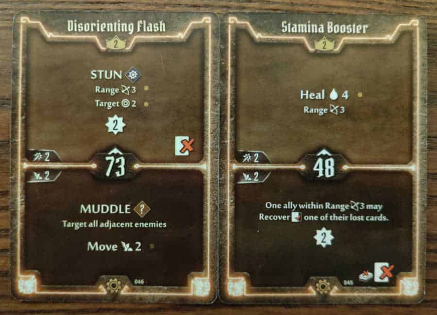 Tinkerer Level 2 cards - Disorienting Flash, Stamina Booster