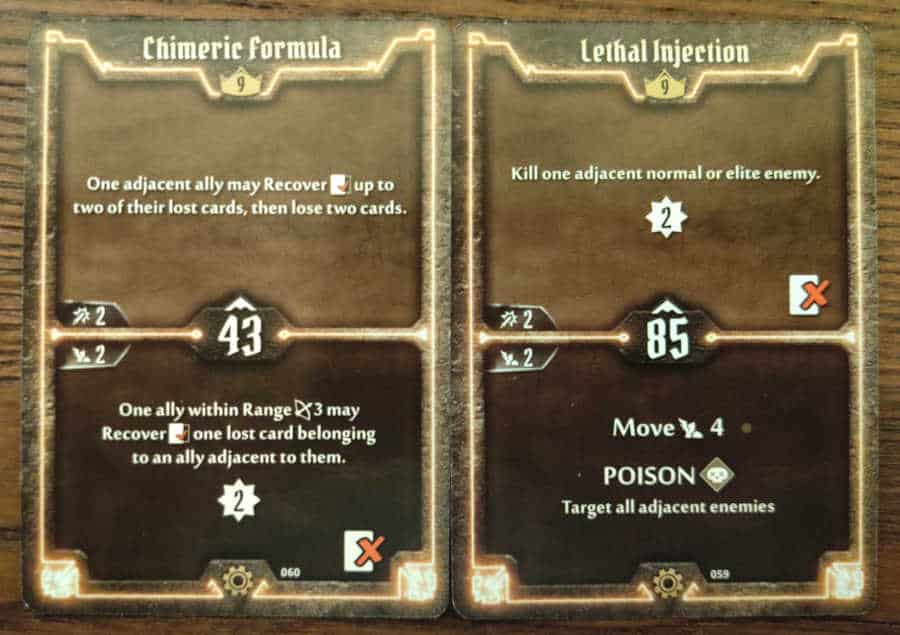 Tinkerer Level 9 cards - Chimeric Formula, Lethal Injection