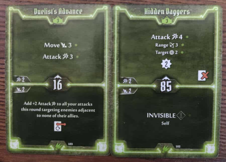 Scoundrel cards level 3 - Duelist's Advance, Hidden Daggers
