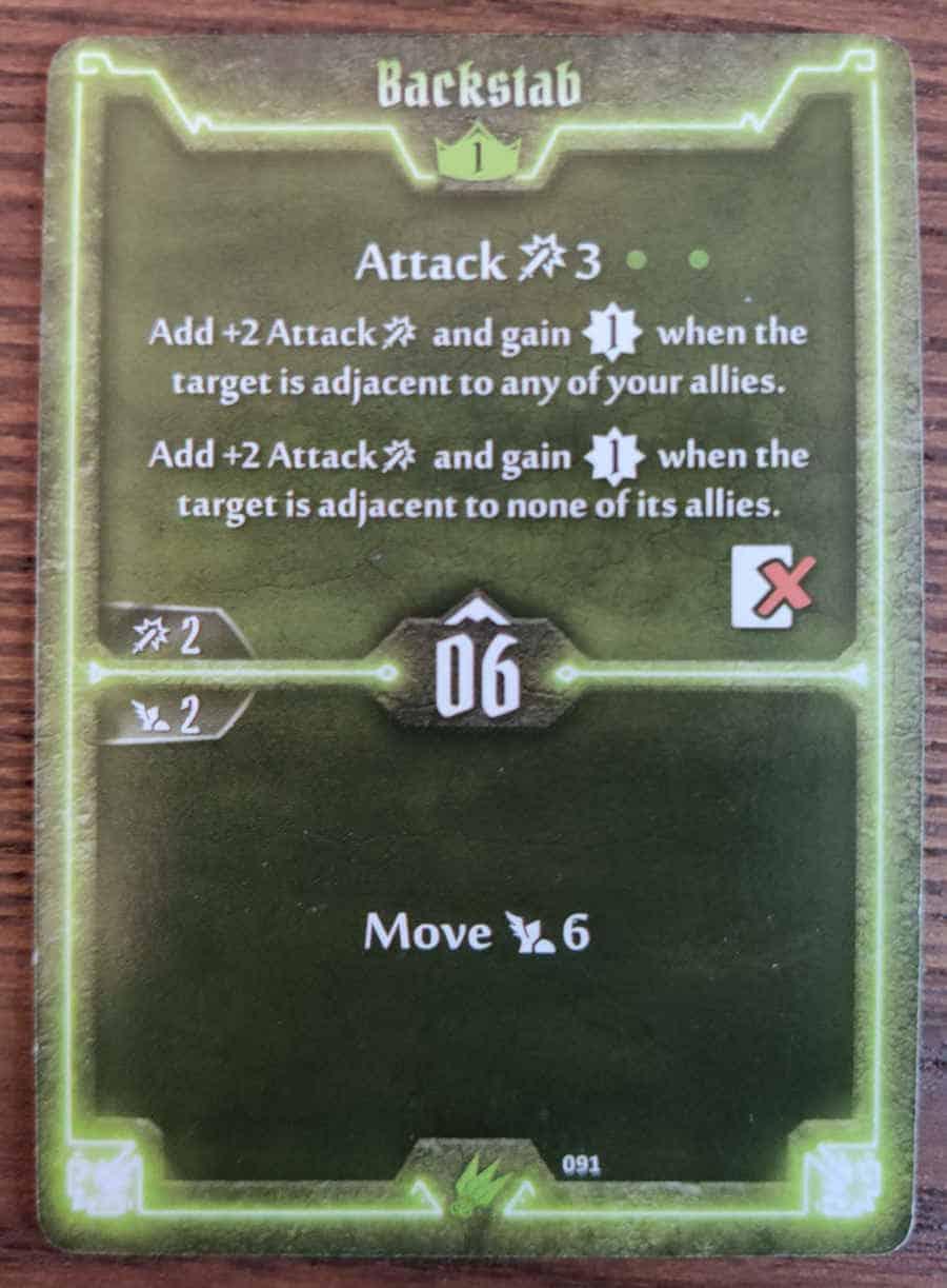 Scoundrel Backstab card