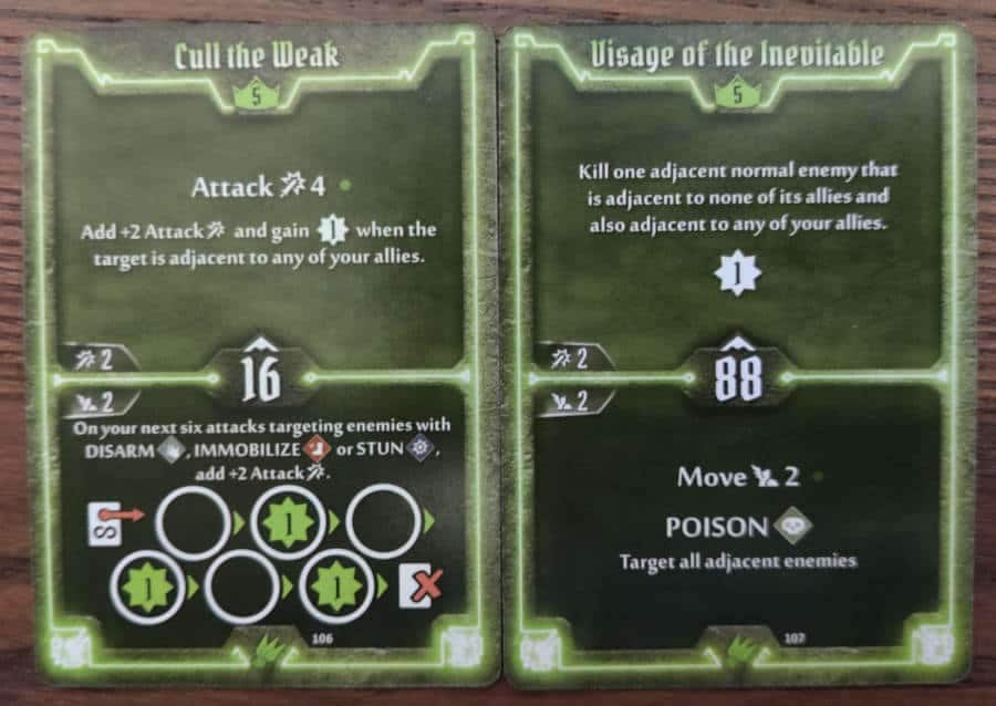 Scoundrel level 5 cards - Cull the Weak, Visage of the Inevitable