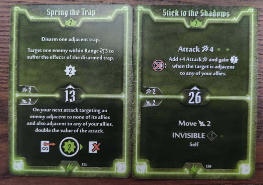 Scoundrel level 7 cards - Spring the Trap and Stick to the Shadows