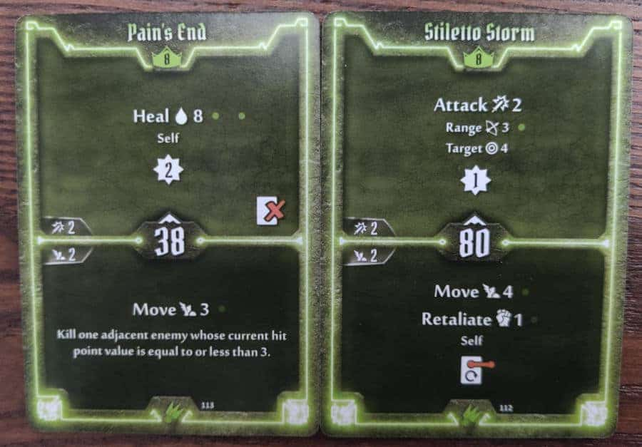 Scoundrel level 8 cards - Pain's End, Stiletto Storm