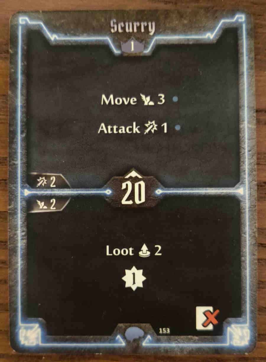 Mindthief level 1 card Scurry