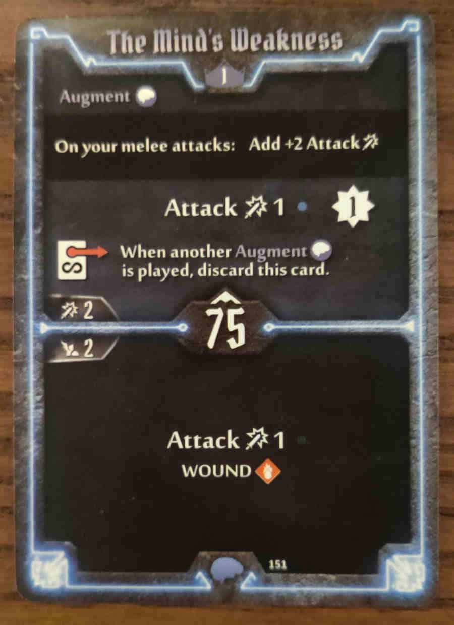 Mindthief level 1 card The Mind's Weakness