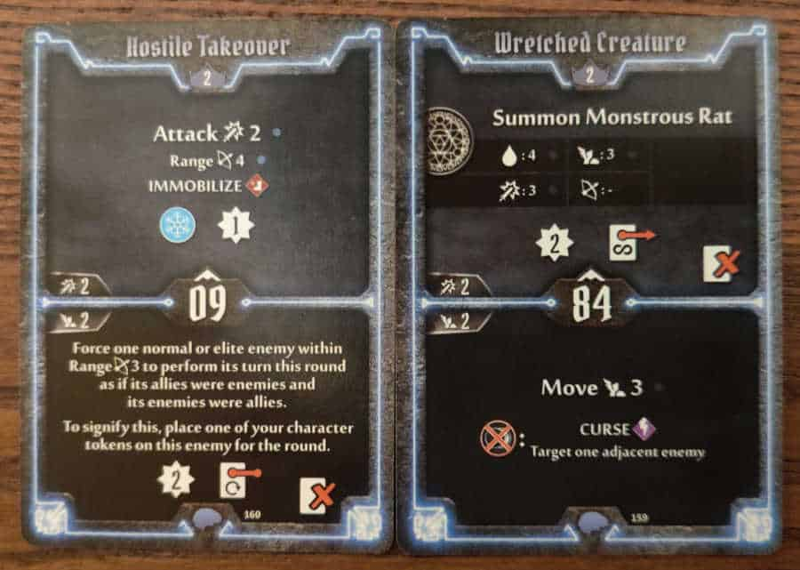 Mindthief level 2 cards Hostile Takeover and Wretched Creature