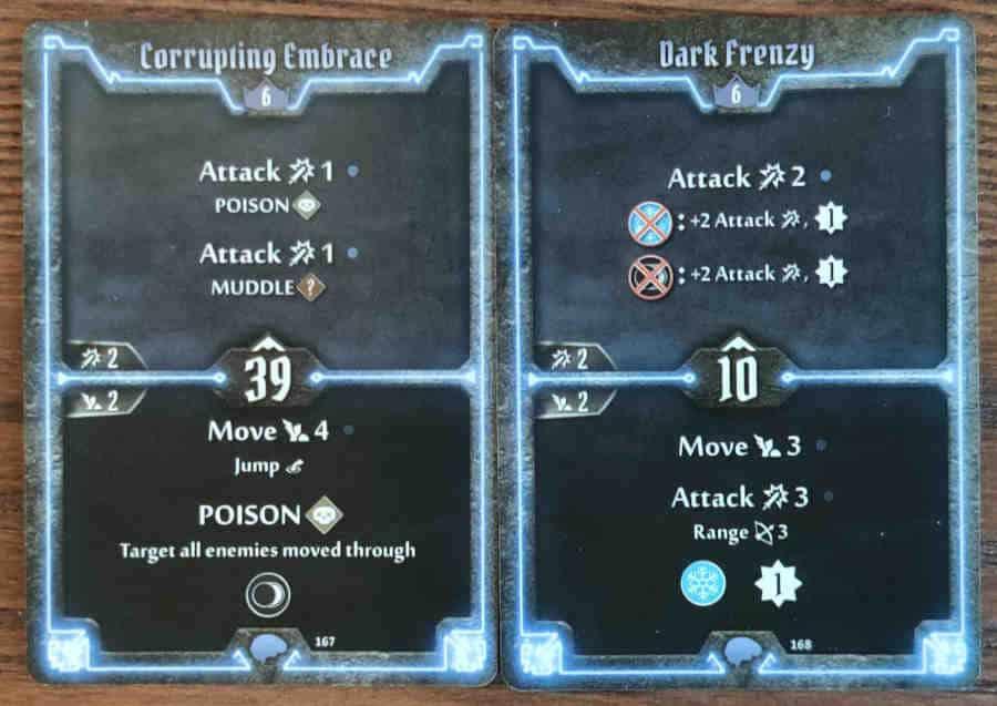 Mindthief level 6 cards Corrupting Embrace, Dark Frenzy
