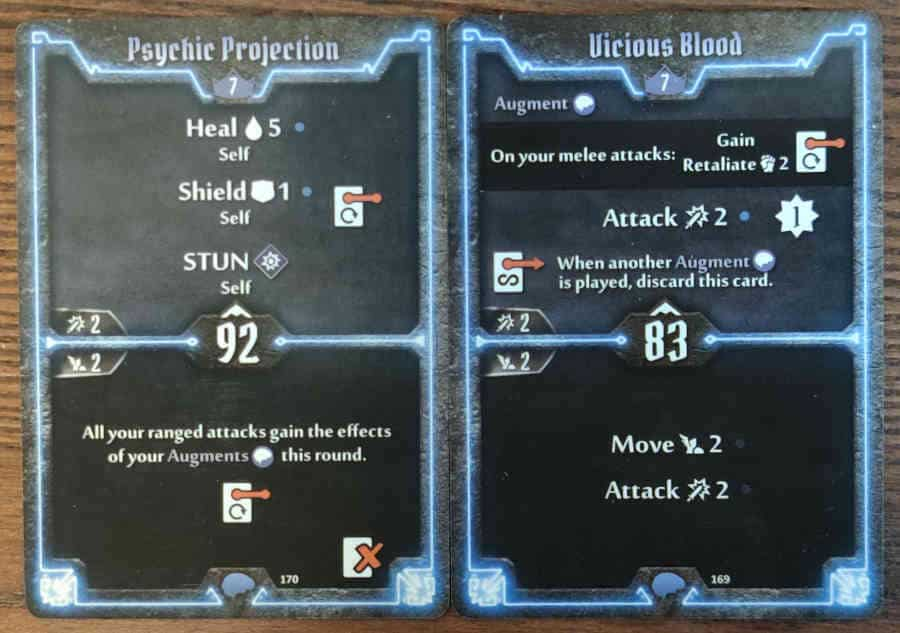 Mindthief level 7 cards Psychic Projection and Vicious Blood