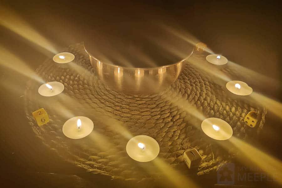Ten Candles around a fireproof bowl