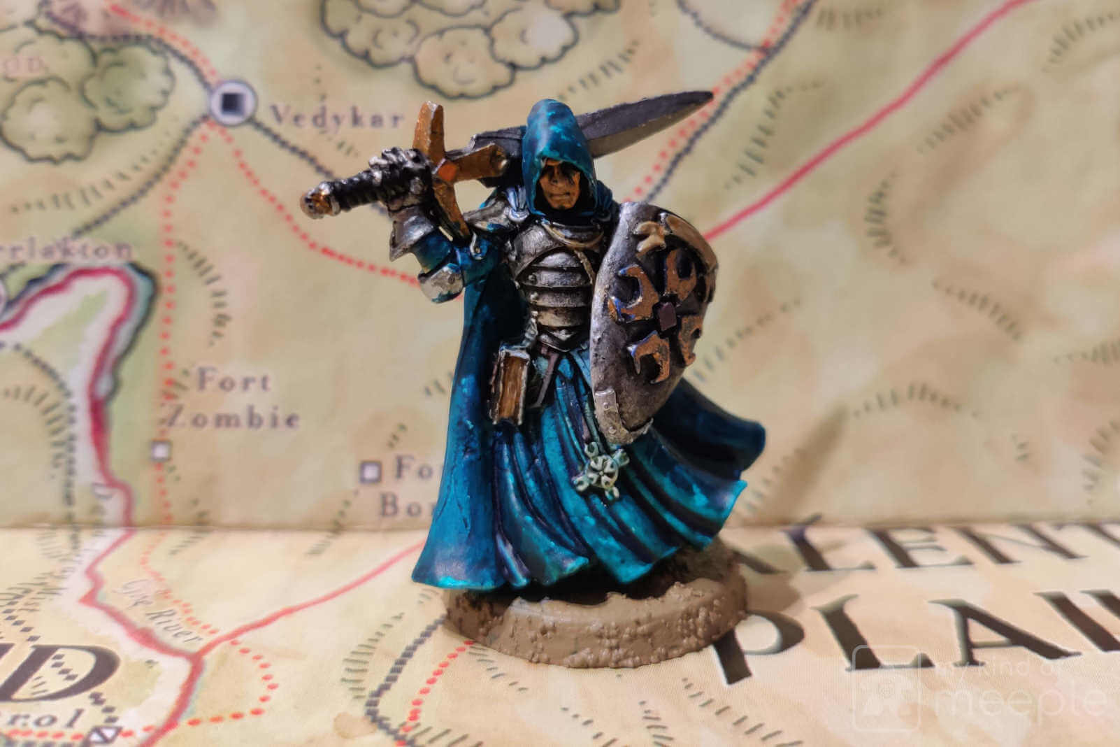 Lawful Good crusader miniature