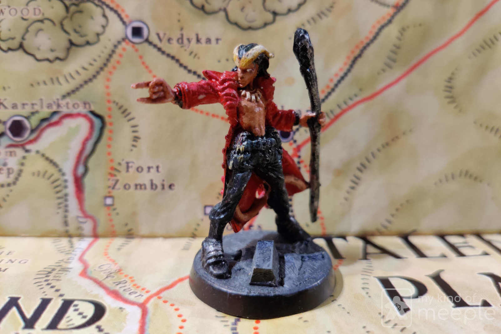 Chaotic Good Tiefling miniature