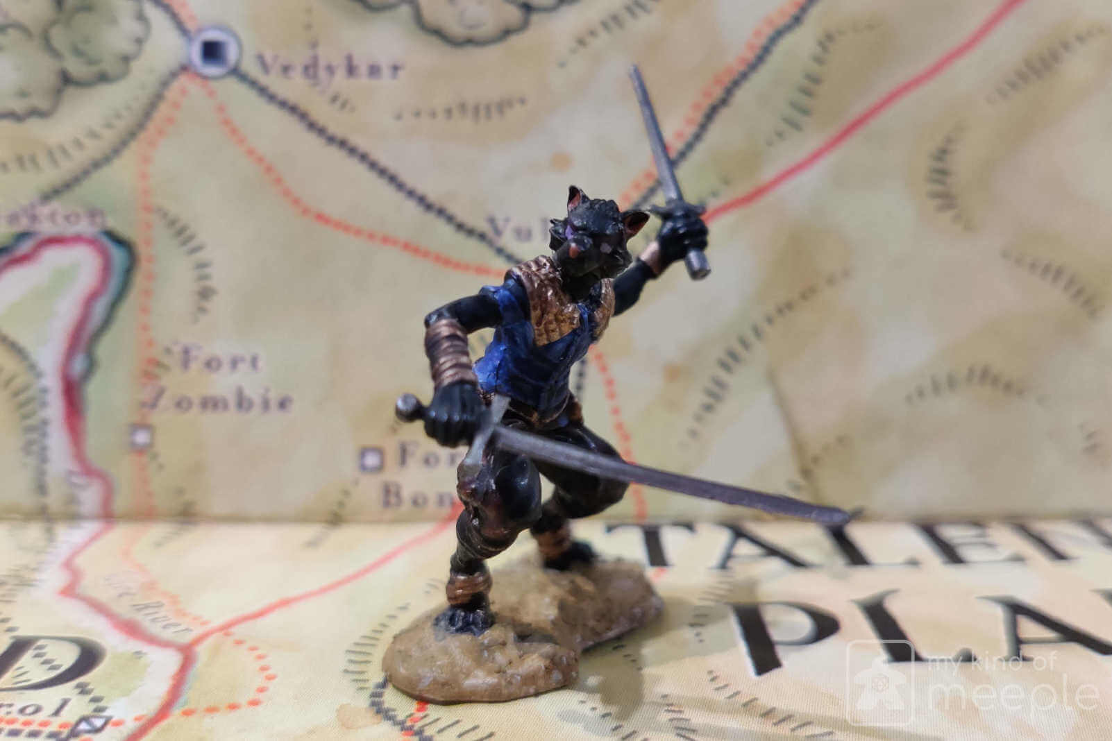 chaotic neutral tabaxi rogue miniature